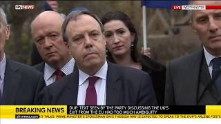 DUP Statement on Brexit Talks