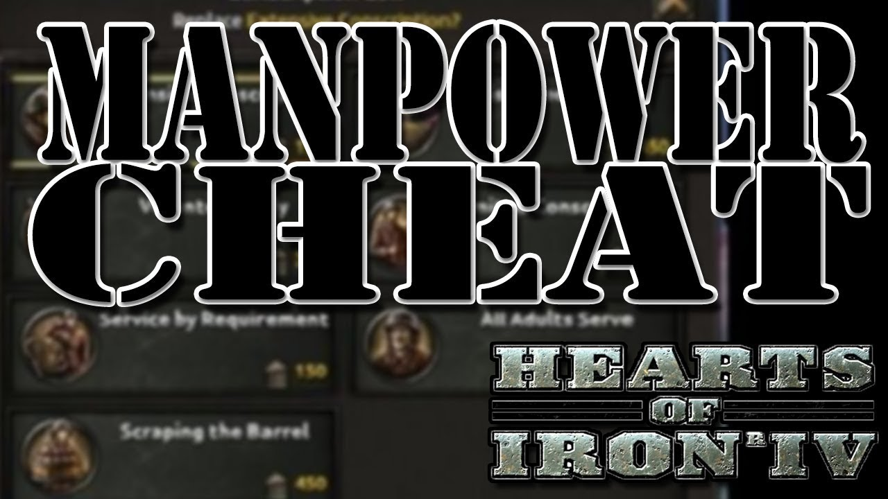 EXPLOIT/CHEAT FREE MANPOWER - Hearts of Iron 4 (HOI4)