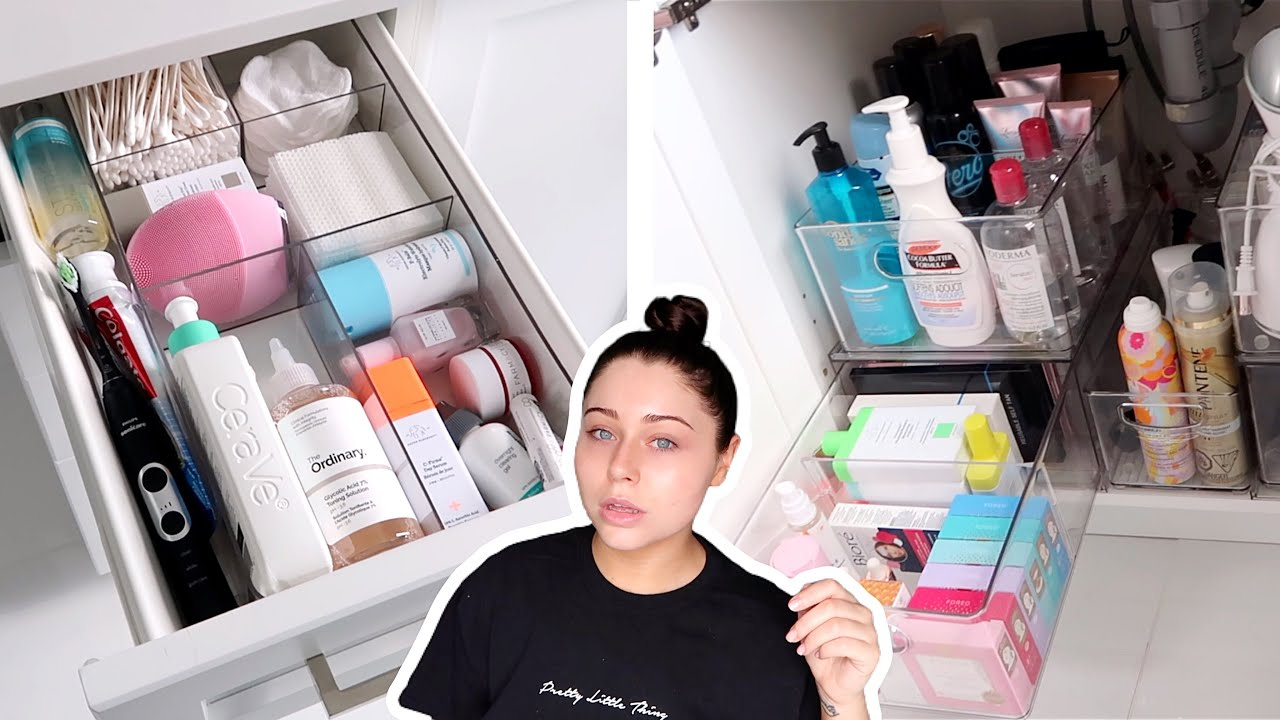 ORGANIZING & DECLUTTERING MY SKINCARE & HAIR CARE IN MY BATHROOM!