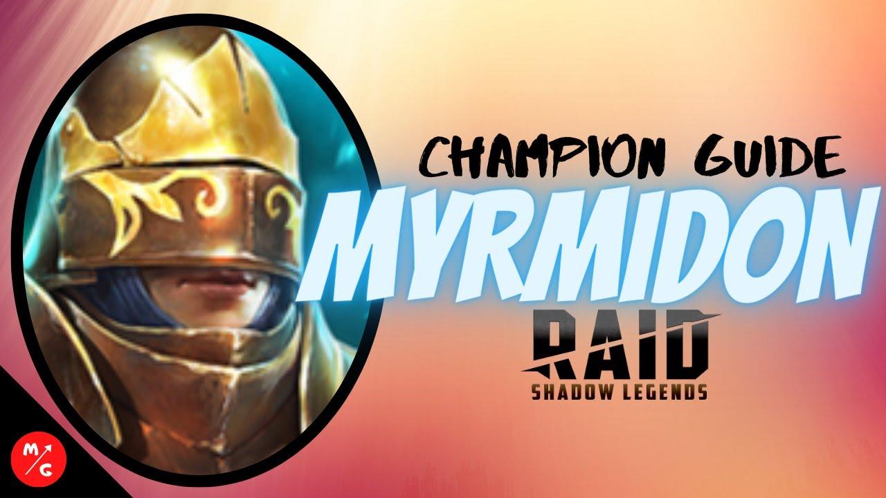 [F2P] MYRMIDON Raid Shadow Legends Champion Guide | A Defense Based Rare that can ACTUALLY HELP!