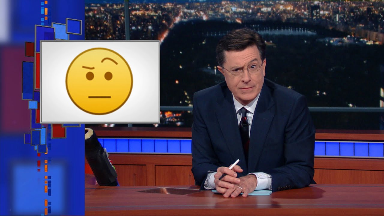The Colbert Emoji Is Good For Almost Every Occasion Youtube