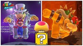 MEGA MARIO fights Bowser, then transforms into GIGA BOWSER - Super Mario Odyssey