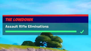 Assault Rifle Eliminations (3) - Fortnite The Lowdown Challenges