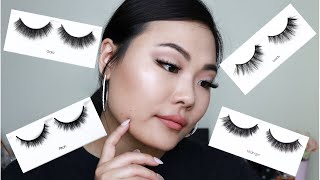 KISS LASH COUTURE FAUX MINK LASHES TRY ON!