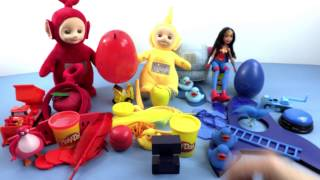 Learning Colors with Teletubbies and Wonderwoman - Red, Blue and Yellow | Toy Store - Toys for Kids