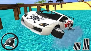 Water Surfer Car Floating Race - Android GamePlay