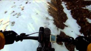 Fat Bike Ride in the Snow 2016