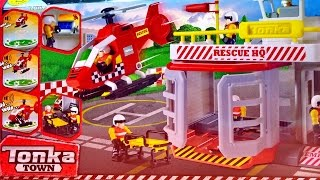 Tonka Town Air Rescue Station With Helicopter Playset ★ Tonka Toys For Kids Worldwide