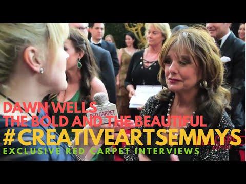 Dawn Wells #BoldandBeautiful interviewed at the 43rd Daytime #CreativeArtsEmmys Awards