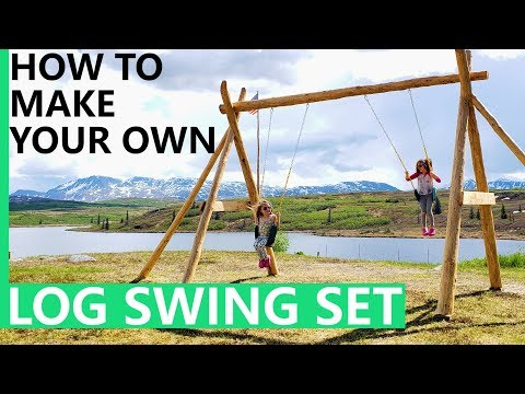 LOG SWING SET PROJECT  |  DIY | use beams or logs