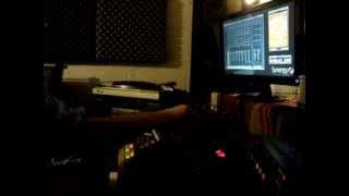 "Russ Disciples mixing a dub version  of ""Ghetto Blues"" feat. Chronixx & Kabaka Pyramid"