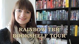 Rainbow TBR Bookshelf Tour