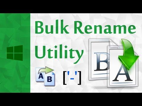 [Windows] How to Rename Multiple Files Using Bulk Rename Utility In Windows 10 | Batch File Renamer