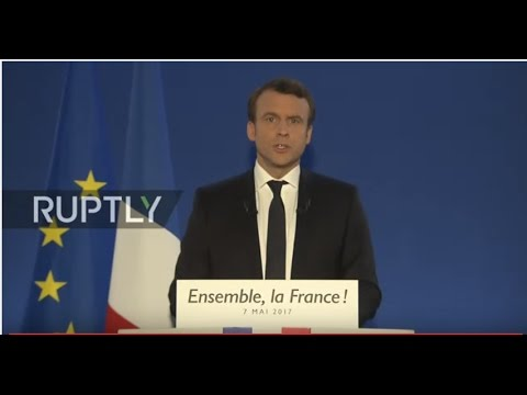 LIVE: French 2017 presidential election runoff: Macron's electoral night event - FRENCH