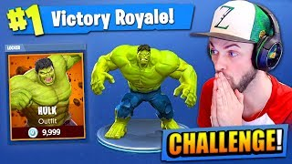 The HULK CHALLENGE in Fortnite: Battle Royale!