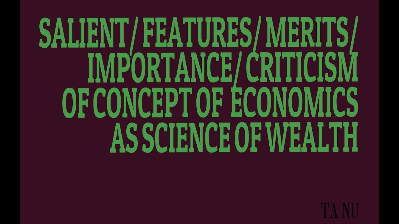 features of wealth definition of economics