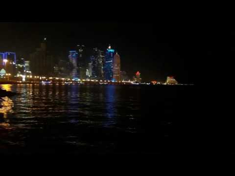 Night view doha city centre