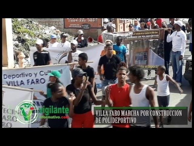 Villa Faro marcha por construcción Polideportivo