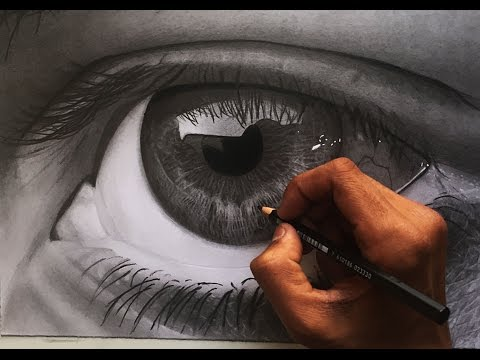 How to draw a realistic eye – hyper realistic art