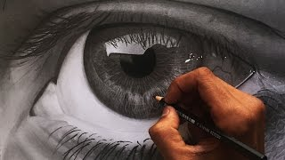 How to draw a realistic eye - hyper realistic speed drawing