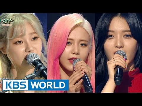 AOA CREAM - Like a Cat / Short Hair / I'm JELLY BABY [Music Bank Unit Debut / 2016.02.12]