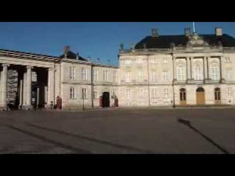 The Royal Palace Amalienborg in Copenhagen