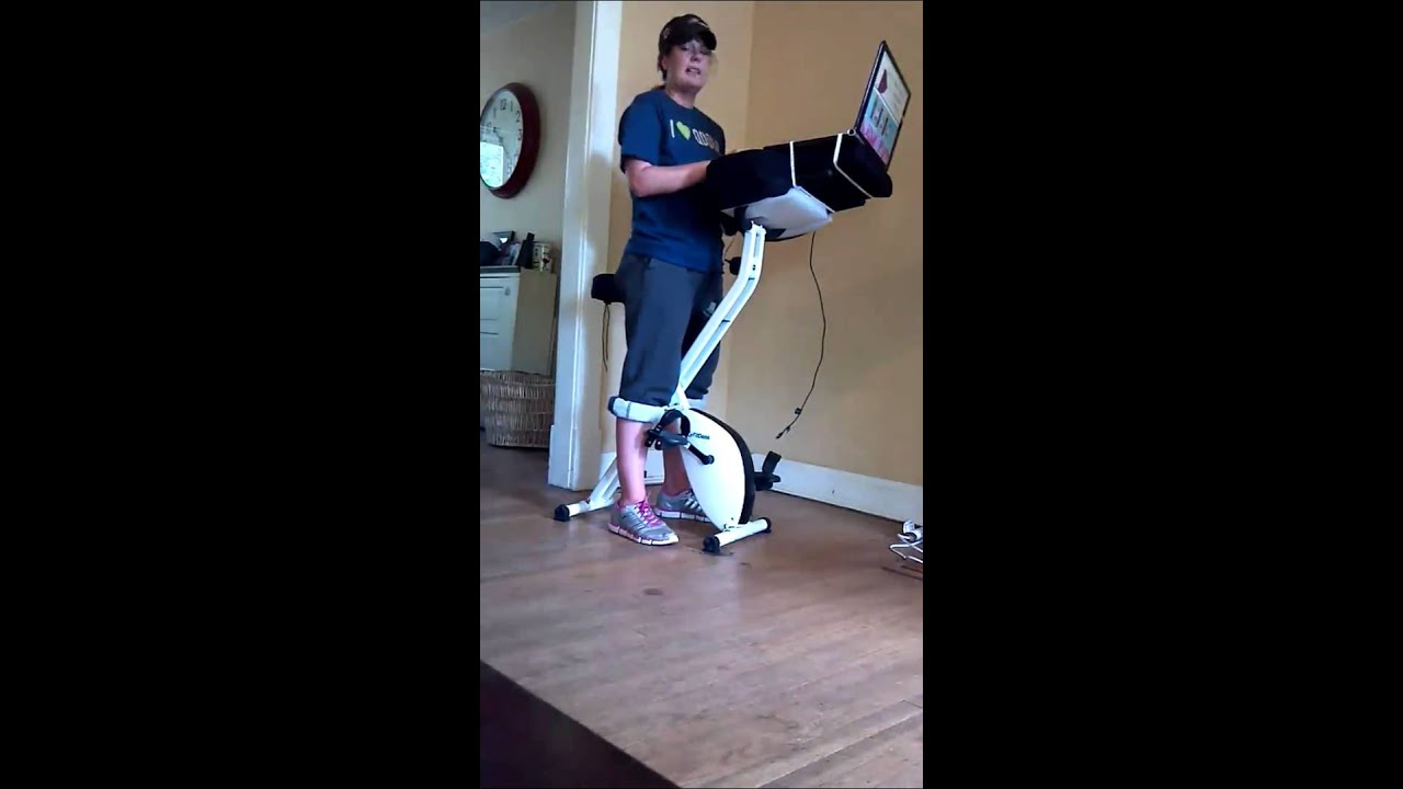Review Fitdesk The Best Exercise Bike At Your Desk You