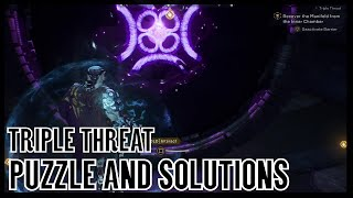 Anthem How to Solve the Threat Triple Puzzle and Solutions