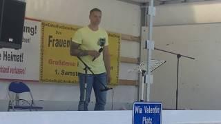 Kandel Demo 02.06.2018 Marco Kurz über Volker Poß und Bedrohung durch Terrorgruppe Antifa