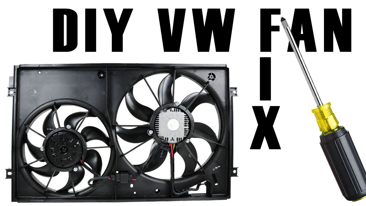 Diy How To Fix A Vw Engine Ac Fan Youtube