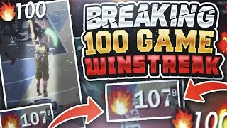 SNAPPING A 100 GAME WIN STREAK ON NBA 2K18! 97 OVERALL VS 93 OVERALL IN THE PLAYGROUND! INTENSE!