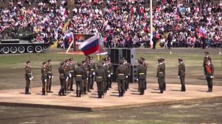 09 05 2013 Выступление Роты Почётного караула на стадионе СибВО в день Победы