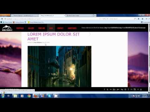 World Travel II - WordPress Theme - Configure Style