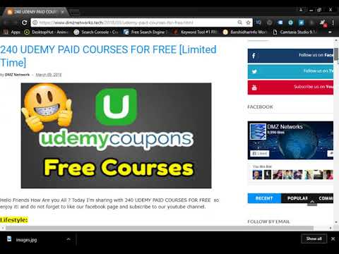 UDEMY PAID COURSES FOR FREE | 240 Udemy COURSES COUPONS FREE