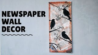 Very Easy Newspaper Wall Decor Ideas | Best Out Of Waste Idea | Pinterest Ideas |
