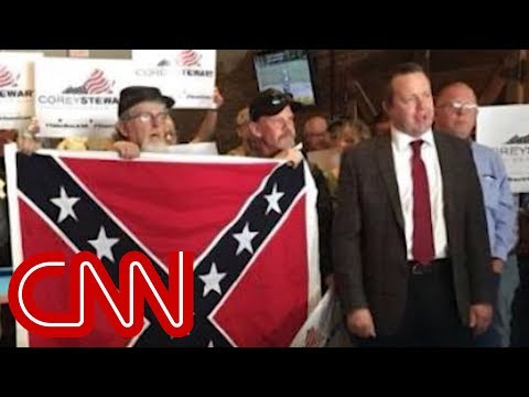 Trump embraces candidate with racist ties