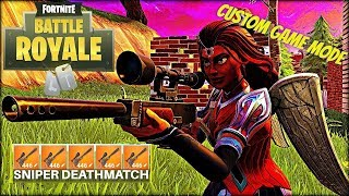 *NEW* SNIPER DEATHMATCH Custom Gamemode In Fortnite Battle Royale | Free V-Bucks Giveaway