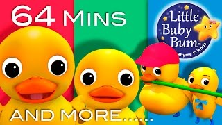 Six Little Ducks | Plus Lots More Nursery Rhymes | 64 Minutes Compilation from LittleBabyBum! thumbnail