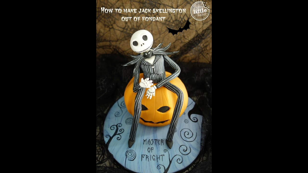 How To Make Jack Skellington Nightmare Before Christmas Out Of Fondant
