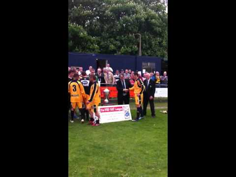 New Mills AFC title presentation