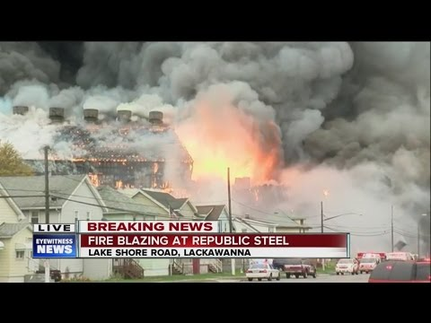 Steel Works Industrial Plant fire