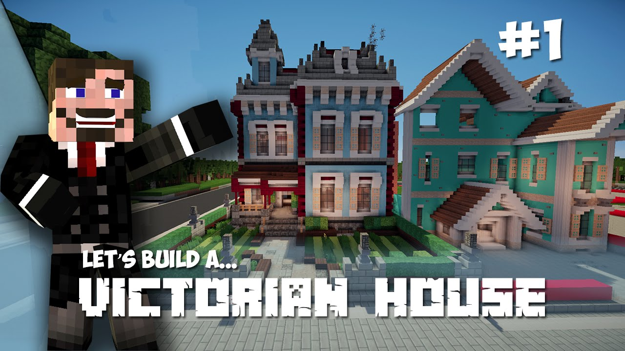 Minecraft lets build victorian house part 1 youtube for Build a home online free