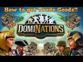 Dominations How to get TRADE GOODS!!