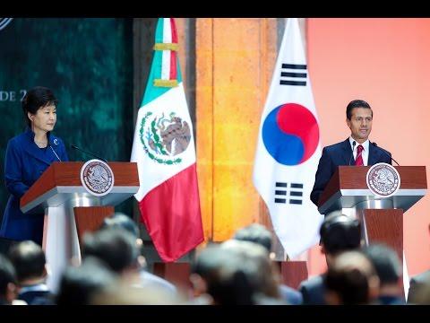 Visita Oficial, señora Park Geun-hye, Presidenta de la República de Corea. Mensaje a Medios