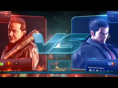 Tekken 7 Online: Kazuya. Vs. Negan (The Walking Dead) [part 2]