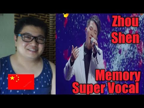 (Filipino Reaction) Zhou Shen singing Memory at Super Vocal l China