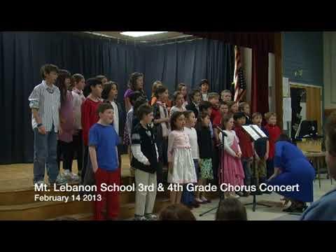 Mt  Lebanon School 3rd and 4th Grade Concert, February 14, 2013