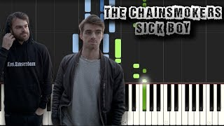 The Chainsmokers - Sick Boy - [Piano Tutorial Synthesia] (Download MIDI)