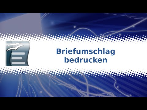 Openoffice Writer Briefumschlag Bedrucken Tutorial Youtube