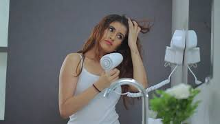 Wall Mount Hair Dryer 1200W - White video